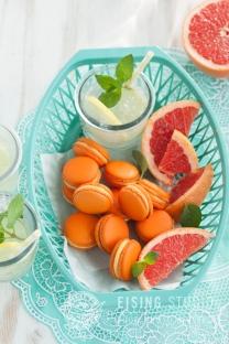 Grapefruit-Macarons